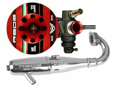 COMBO 721 S SCUDERIA GEN2 RED with 2143 X-ONE TORQUE PIPE
