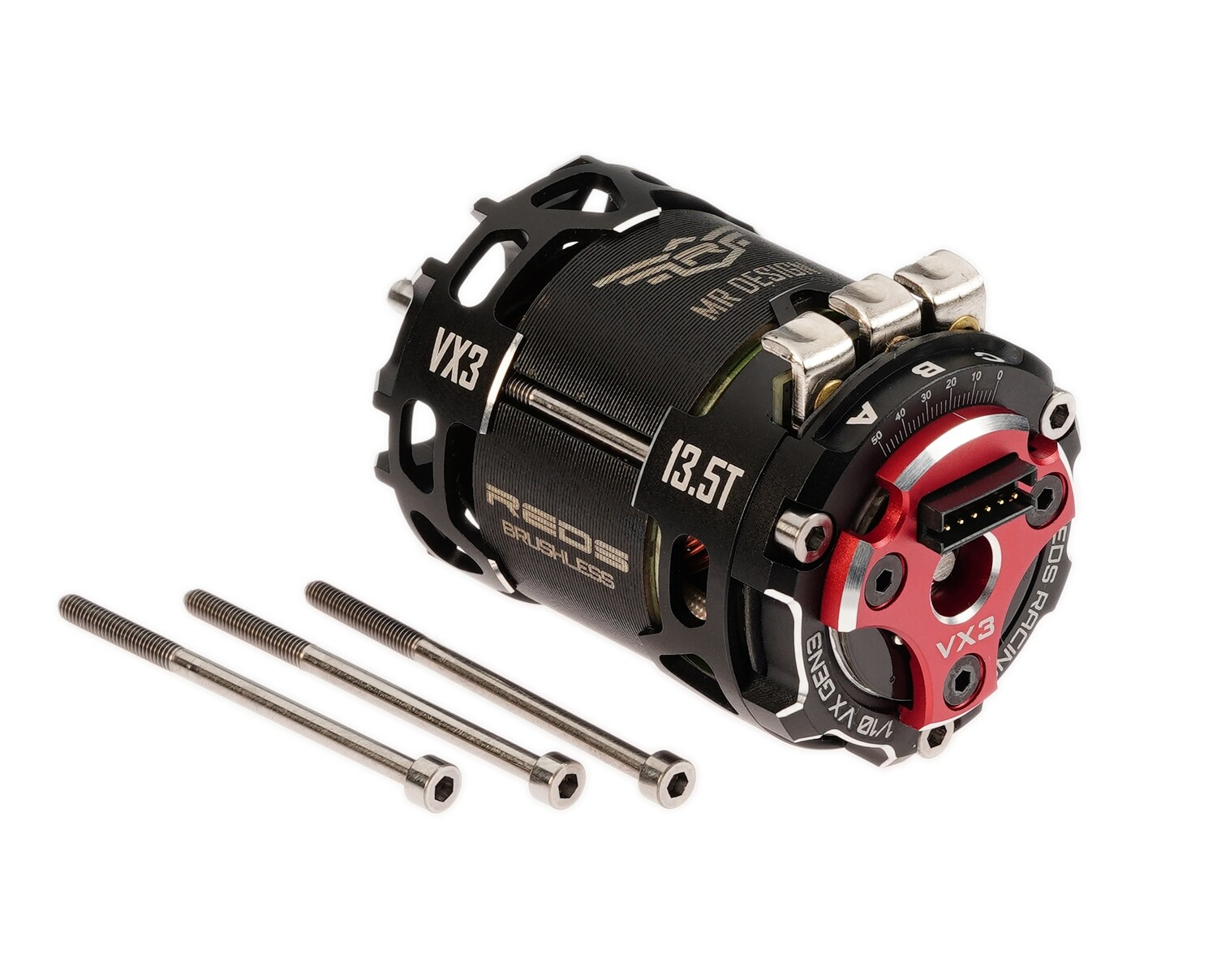 BRUSHLESS MOTOR REDS VX3 540 10.5T 2 POLE SENSORED FACTORY SELECTED