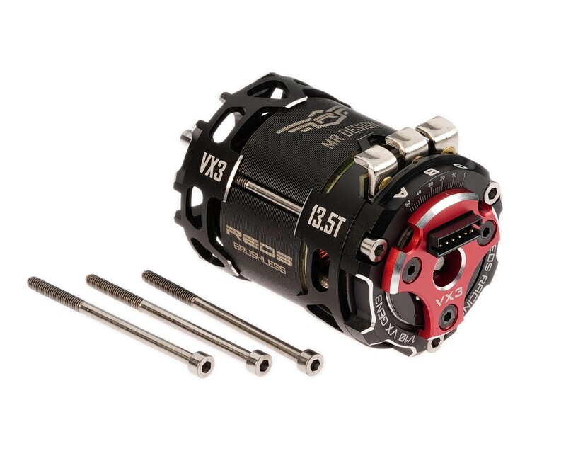 BRUSHLESS MOTOR REDS VX3 540 4.5T 2 POLE SENSORED FACTORY SELECTED