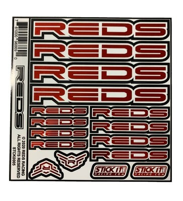 STICKER SHEET REDS 6x6