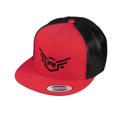 """REDS HAT FLEXFIT SNAPBACK """"5th COLLECTION"""" BLACK/RED"""