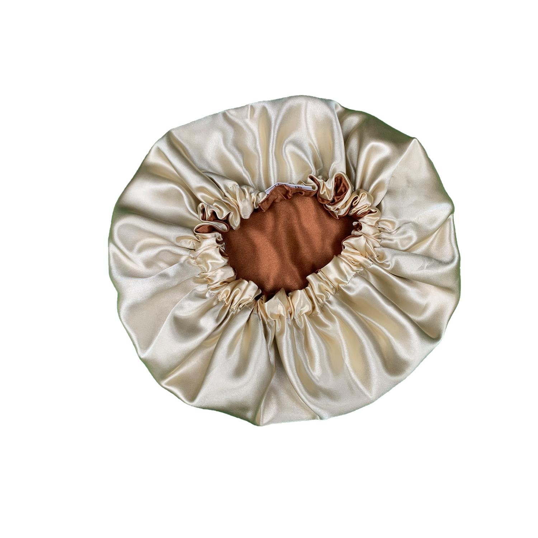 Cocoa Satin Bonnet