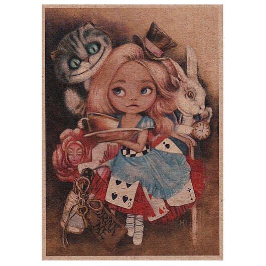 """Открытка """"Алиса в Зазеркалье"""""""