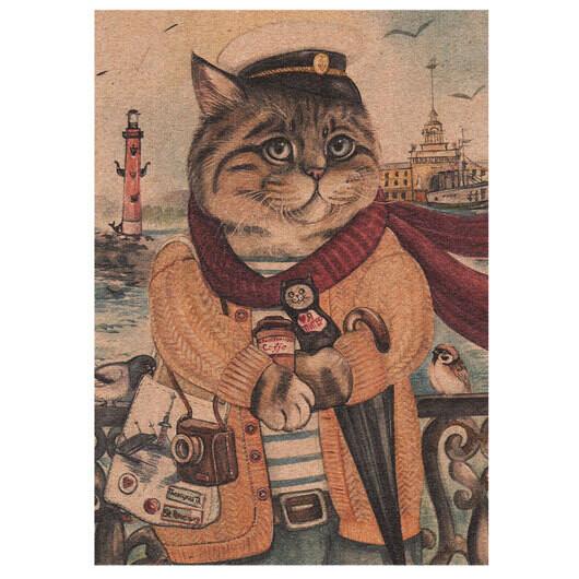 """Открытка """"Петербургский кот"""