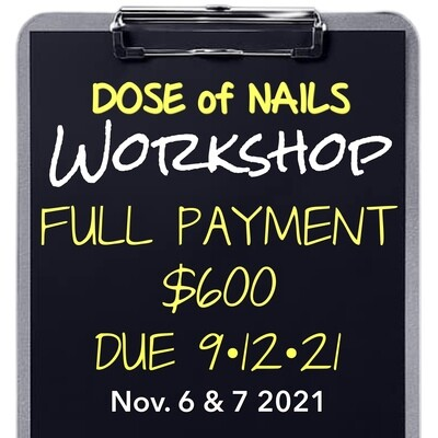 FULL PAYMENT DUE 9.12.21