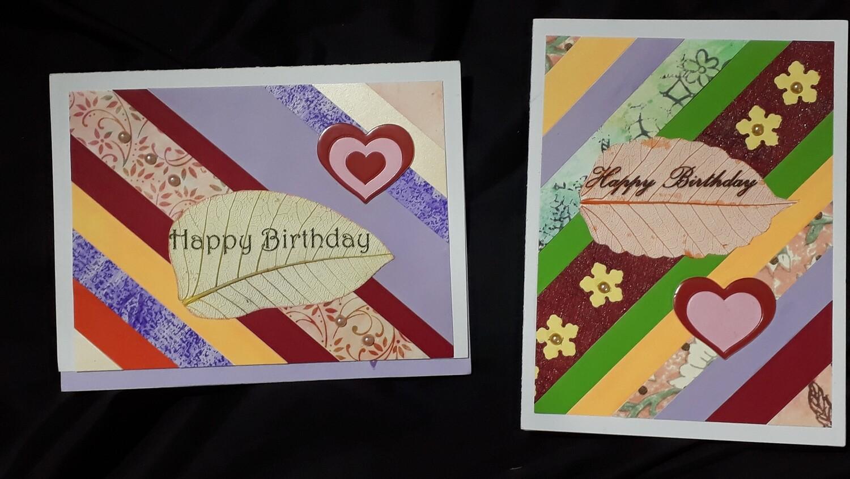 Striped Birthday Message