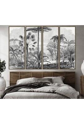 Utopia Art in Greyscale Set of 4