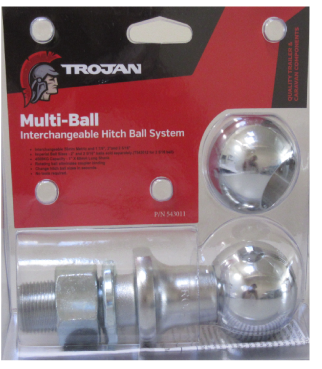 "Tow Ball Multi-Ball 1"" X 60mm Shank"