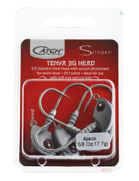 Catch Stingaz Tenya Jig Heads 3/0 Pack 5/8oz