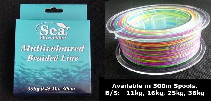 Multicoloured Braided Line-25kgx300m