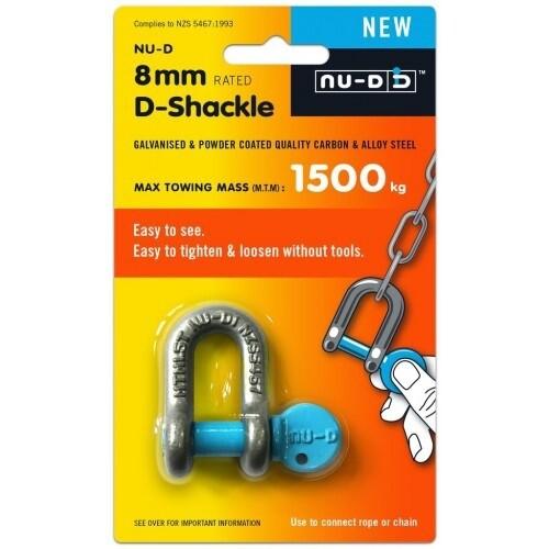 NU-D TESTED SHACKLE Easy Open Key 8mm x 1500KG