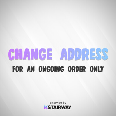 Change Address - For an Ongoing Order Only