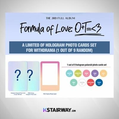TWICE: Formula of Love O+T=<3 - 3rd Album - Special Photocard