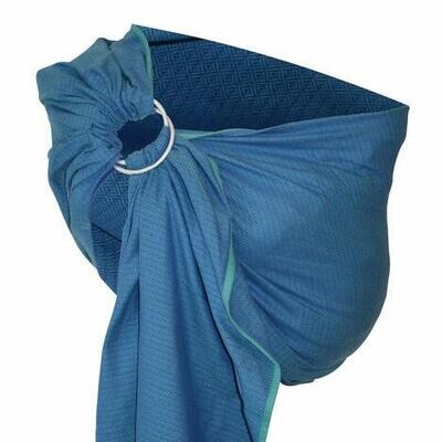 Bandolera Storchenwiege LEO Azul Claro