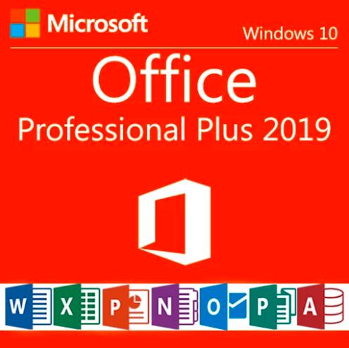 Microsoft Office 2019 Professional Plus Retail Key 32/64-Bit Pro