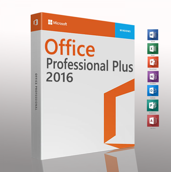 Microsoft Office 2016 Professional Plus Retail Key 32/64-Bit Pro
