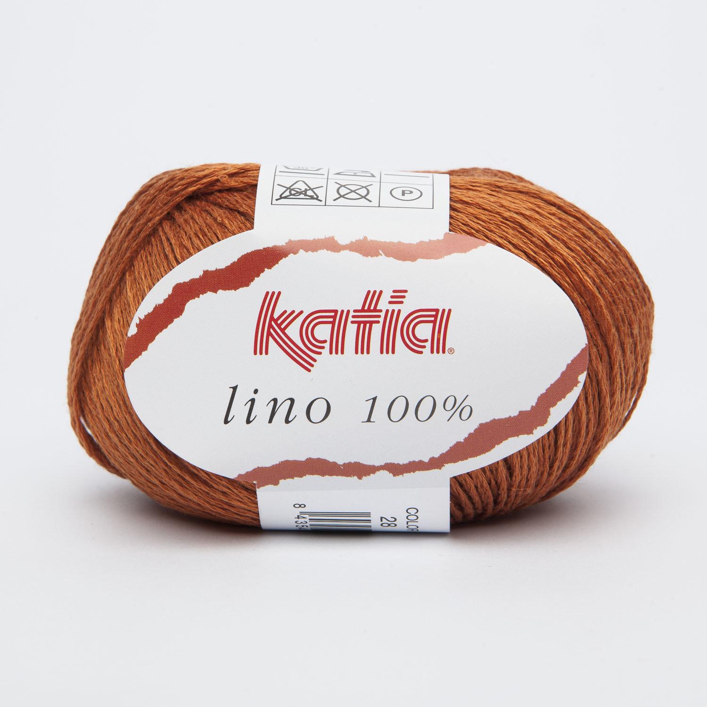 LINO 100% KATIA COL. 28 RAME