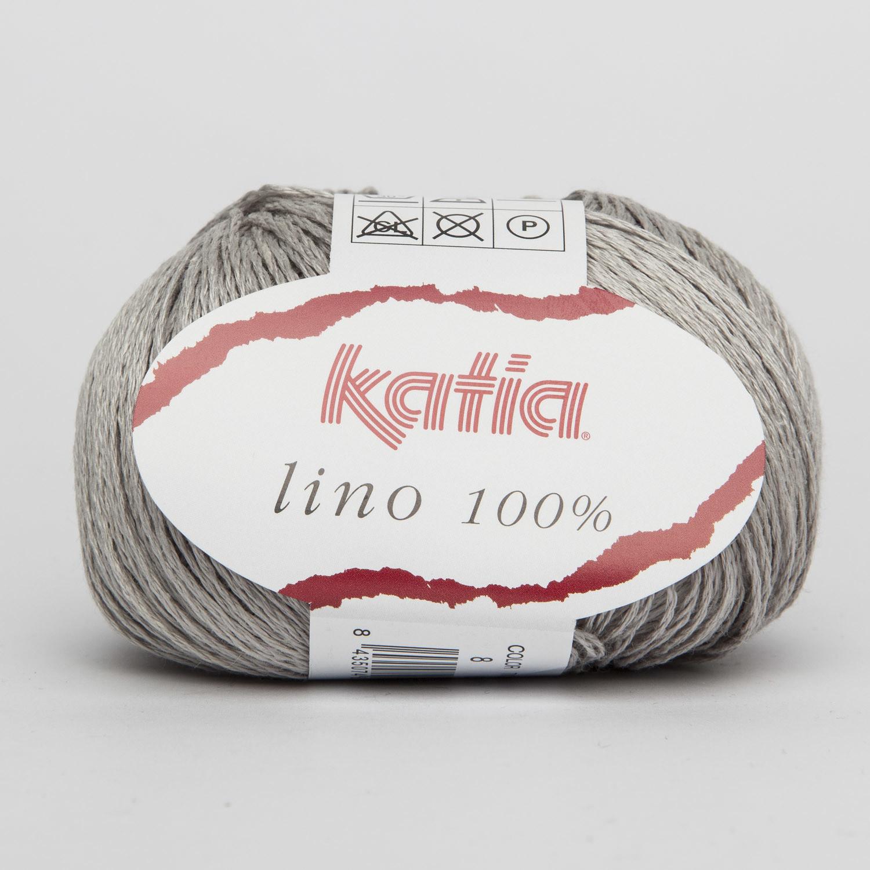 LINO 100% KATIA COL. 08 GRIGIO CHIARO