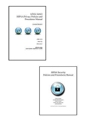 HIPAA Privacy and HIPAA Security Compliance Manuals 0000001
