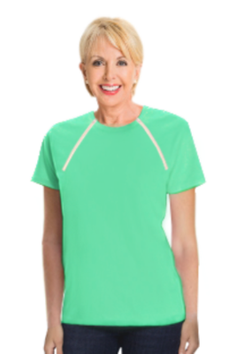 Women's Short Sleeve (Aqua Green)
