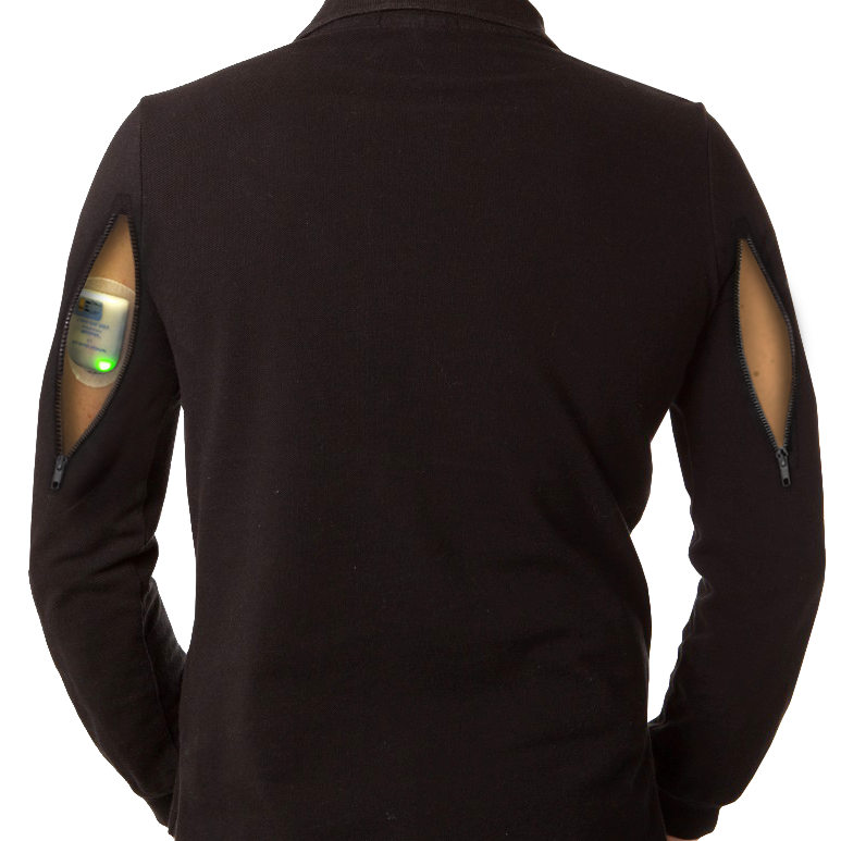 Auto-Injector Access Shirt : with Dual Arm Access (Men's)