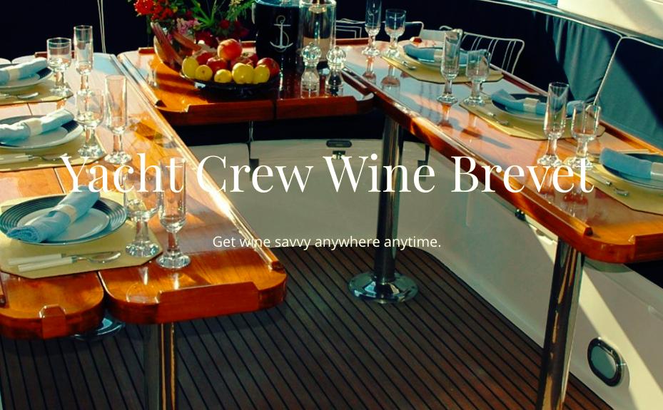Yacht Crew Wine Brevet