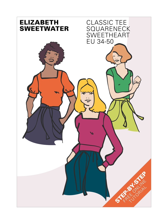 Squareneck/Sweetheart T-shirt