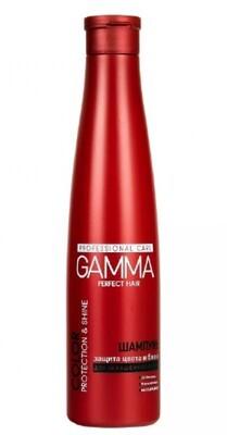 Шампунь GAMMA PERFECT HAIR защита цвета и блеск для окрашенных волос, 350мл
