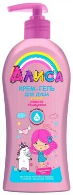 Крем-гель для душа для детей АЛИСА нежное очищение, 350мл