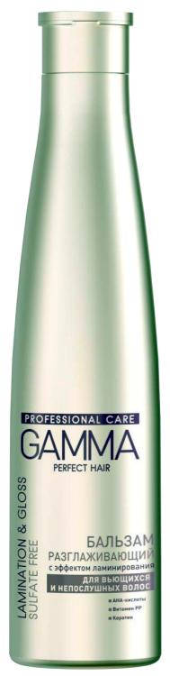 Бессульфатный бальзам GAMMA PERFECT HAIR разглаживающий c эффектом ламинирования для вьющихся и непослушных волос, 350мл