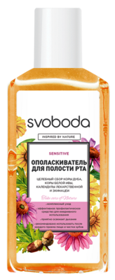 Ополаскиватель для полости рта SVOBODA sensitive, 308г