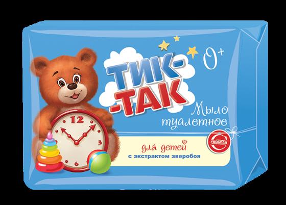 """Мыло детское  """"Тик-так"""" с экстрактом зверобоя для чувствительной кожи, 150г"""