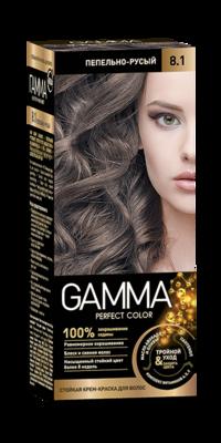 """Краска для волос """"GAMMA Perfect color"""" пепельно-русый, 8.1"""