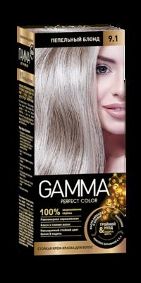 """Краска для волос """"GAMMA Perfect color"""" пепельный блонд, 9.1"""