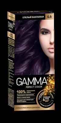 """Краска для волос """"GAMMA Perfect color"""" спелый баклажан, 4.6"""