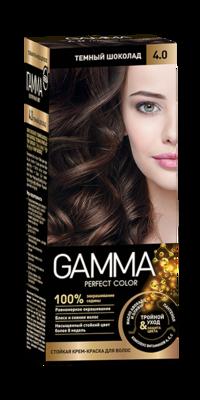 """Краска для волос """"GAMMA Perfect color"""" тёмный шоколад, 4.0"""