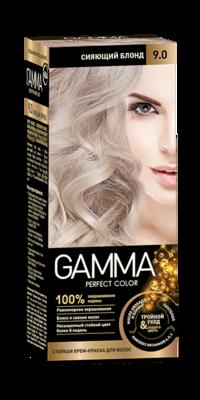 "Краска для волос ""GAMMA Perfect color"" сияющий блонд, 9.0"