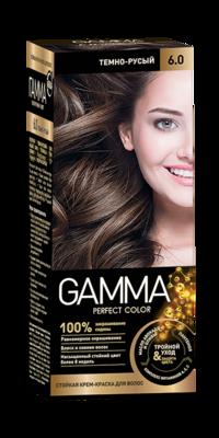 """Краска для волос """"GAMMA Perfect color"""" тёмно-русый, 6.0"""