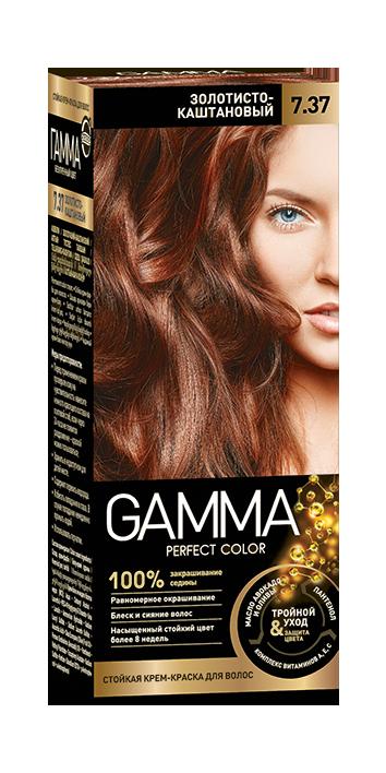 """Краска для волос """"GAMMA Perfect color"""" золотисто-каштановый, 7.37"""