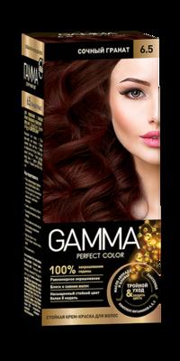 """Краска для волос """"GAMMA Perfect color"""" сочный гранат, 6.5"""