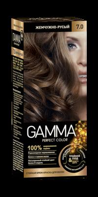 """Краска для волос """"GAMMA Perfect color"""" жемчужно-русый, 7.0"""