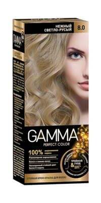 """Краска для волос """"GAMMA Perfect color"""" нежный светло-русый, 8.0"""