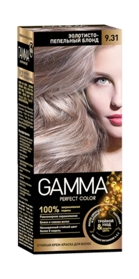 """Краска для волос """"Гамма"""" золотисто-пепельный блонд, 9.31"""