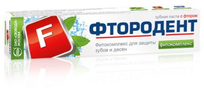 """Зубная паста """"Фтородент"""" фитокомплекс, с фтором, 62г"""