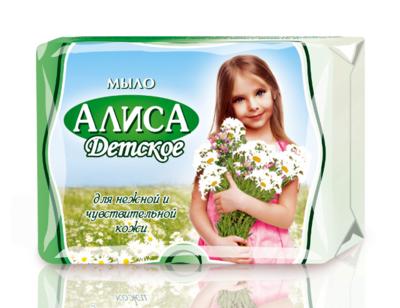 """Мыло туалетное """"Алиса"""" предупреждает сухость кожи, 175г"""