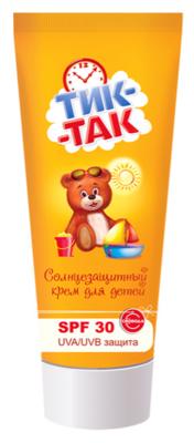 """Солнцезащитный крем """"ТИК-ТАК"""" SPF 30+, 55г"""