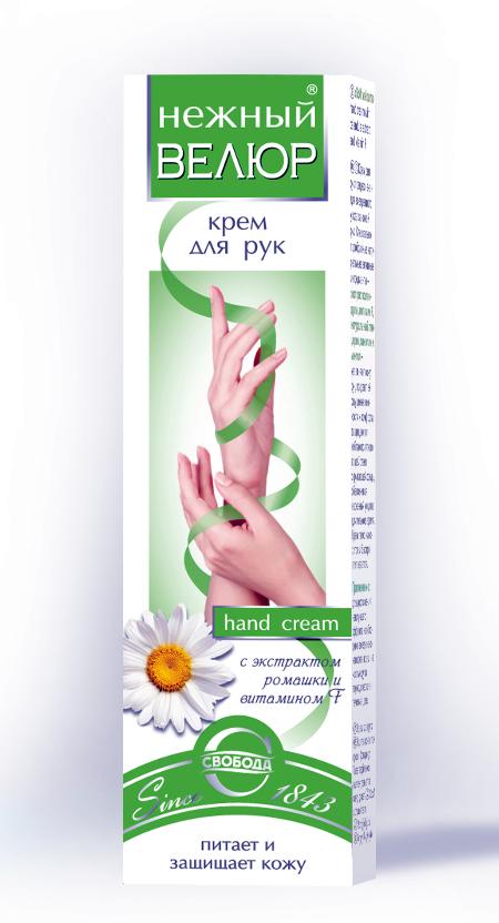"""Крем для рук """"Нежный велюр"""" с экстрактом ромашки и витамином F, 40г"""