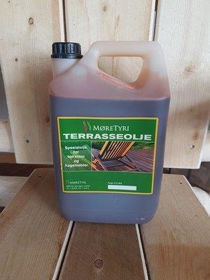 Terrasseolje 5 liter Grå