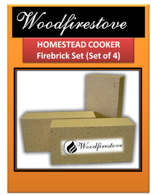 HOMESTEAD COOKER = REPLACEMENT FIREBRICK SET= to suit Models WE1 & WE2 *Free Shipping