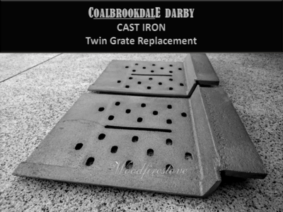 Suits Coalbrookdale Darby Grate Set CAST IRON Heavy Duty Replacement *Free Shipping